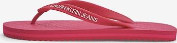 Calvin Klein Jeans Zehentrenner in Rot