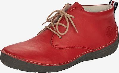 Pantofi cu șireturi RIEKER pe roșu, Vizualizare produs