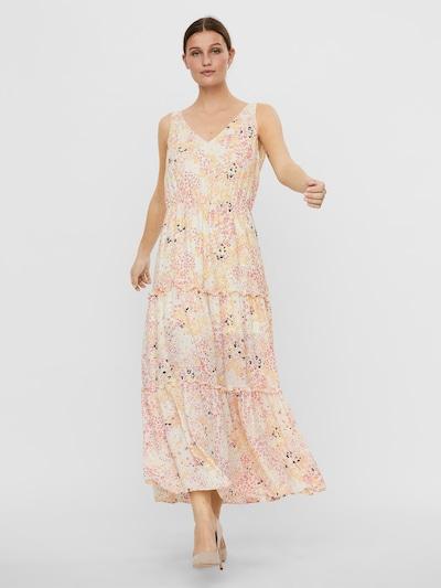 VERO MODA Kleid 'Hannah' in gelb / pink / schwarz / offwhite, Modelansicht