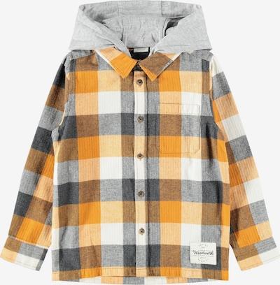 NAME IT Overhemd 'Leliam' in de kleur Grijs / Pasteloranje / Donkeroranje / Wit, Productweergave