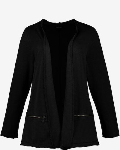 Ulla Popken Sweatjacke in schwarz, Produktansicht