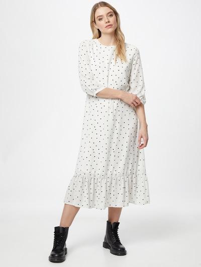VILA Kleid 'Dotties' in dunkelgrau / schwarz / weiß, Modelansicht