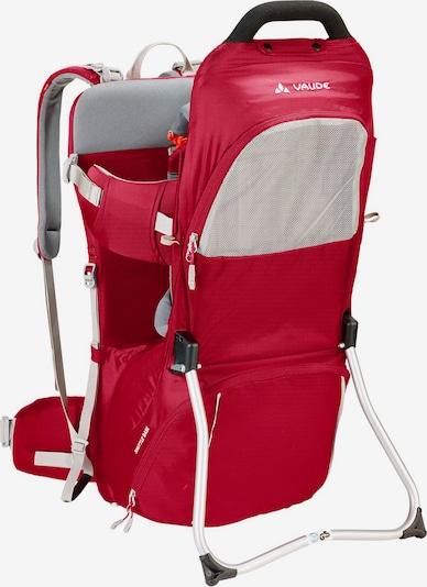VAUDE Kindertragerucksack in grau / rot, Produktansicht