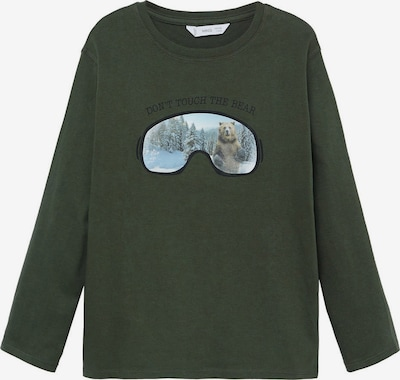 MANGO KIDS Shirt 'ANIMAL' in de kleur Kaki / Gemengde kleuren, Productweergave