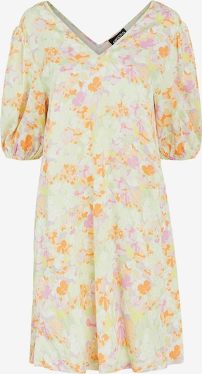 PIECES Kleid 'Tina' in hellgelb / pastellgrün / orange, Produktansicht