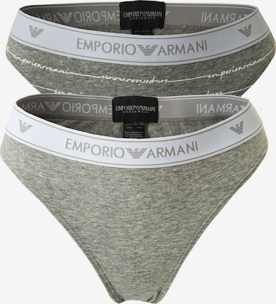Emporio Armani Slip in graumeliert / weiß, Produktansicht