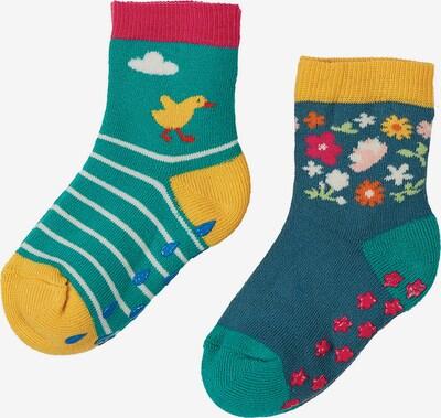 Frugi Socken in gelb / smaragd / jade / rot, Produktansicht