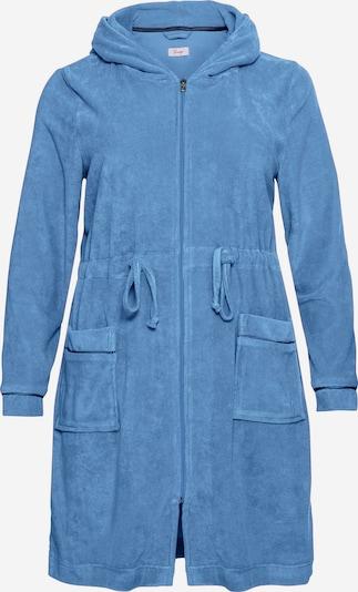 SHEEGO Badjas kort in de kleur Blauw, Productweergave