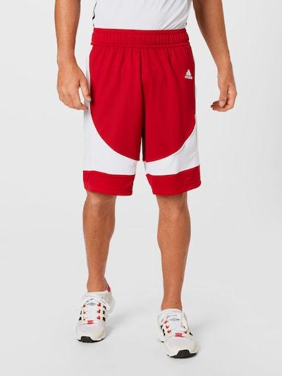 ADIDAS PERFORMANCE Športové nohavice - ohnivo červená / biela, Model/-ka