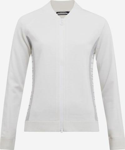 J.Lindeberg Sportstrickjacke 'Dina' in grau / weiß, Produktansicht