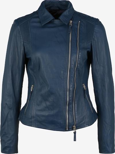 KRISS Lederjacke 'Nina' in blau / cyanblau / dunkelblau, Produktansicht