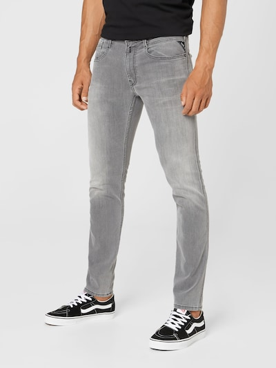 REPLAY Jeans 'ANBASS' in de kleur Lichtgrijs, Modelweergave