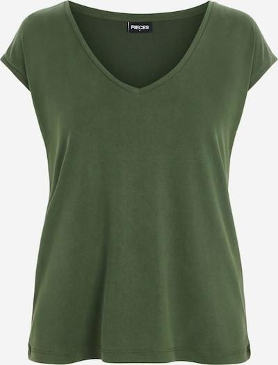 PIECES Camiseta 'Kamala' en verde oscuro, Vista del producto