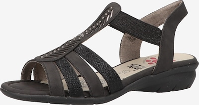Relife Sandale in schwarz, Produktansicht