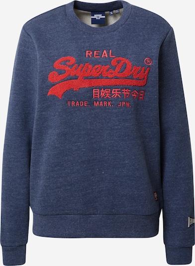 Superdry Sweatshirt i navy / rød, Produktvisning