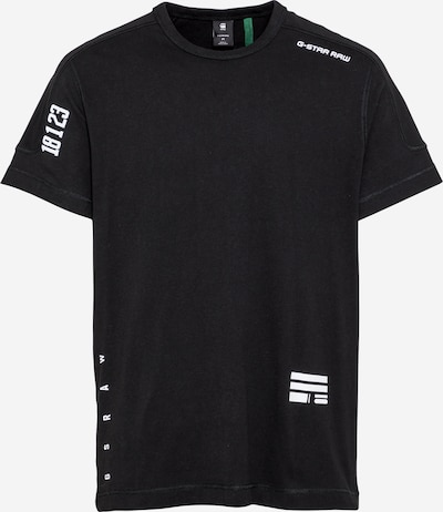G-Star RAW Shirt in de kleur Zwart / Wit, Productweergave