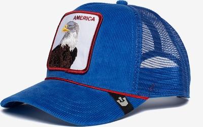GOORIN Bros. Casquette 'America For Real' en bleu roi / chocolat / blanc, Vue avec produit