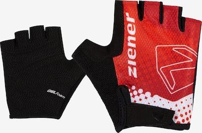 ZIENER Sporthandschuhe 'Curto' in rot / schwarz / weiß, Produktansicht