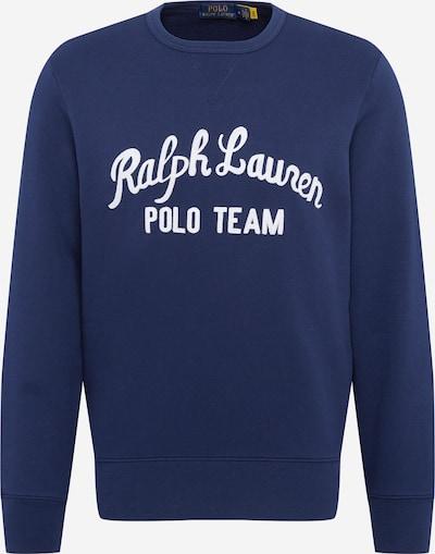 POLO RALPH LAUREN Sweater majica u mornarsko plava / bijela: Prednji pogled