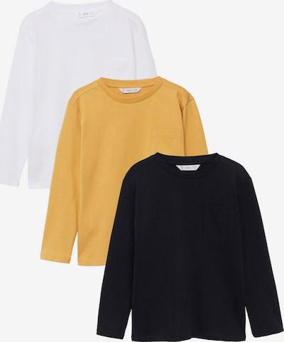 MANGO KIDS T-shirt i senap / svart / vit, Produktvy