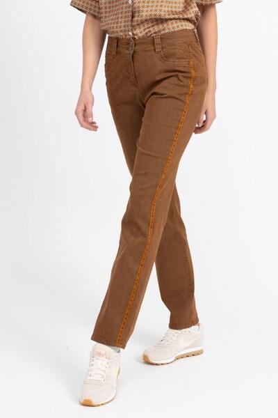 Recover Pants Hose in karamell / dunkelorange, Modelansicht