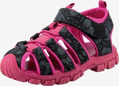 Happy Bee Sandale in grau / pink / schwarz, Produktansicht