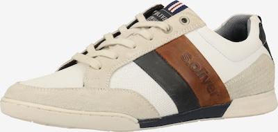 s.Oliver Sneaker in enzian / braun / weiß, Produktansicht