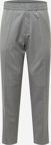 HUGO Trousers with creases 'Howard213' in Grey