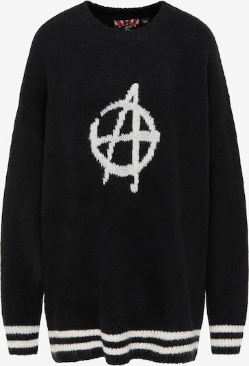 myMo ROCKS Pullover in schwarz / weiß, Produktansicht