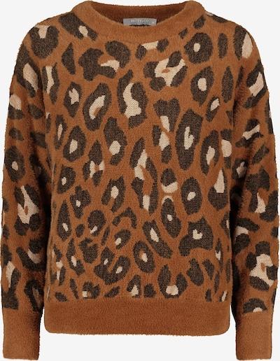 Betty & Co Pullover in creme / kastanienbraun / rostbraun, Produktansicht
