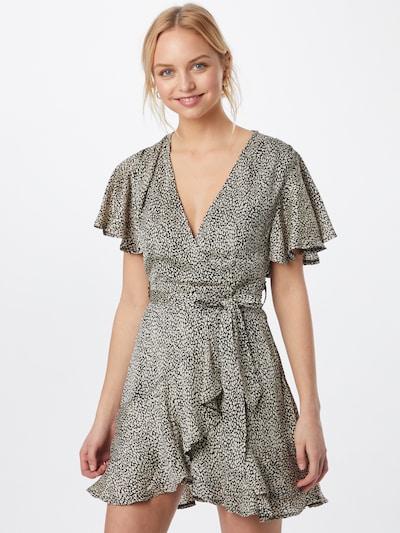 Rochie tip bluză Parallel Lines pe bej / negru, Vizualizare model
