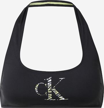 Calvin Klein Swimwear Bikini Top in Black