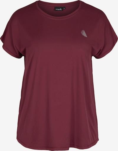 Active by Zizzi T-Shirt 'Abasic' in weinrot, Produktansicht