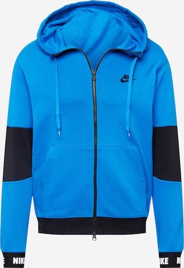 Hanorac Nike Sportswear pe albastru regal / negru / alb, Vizualizare produs