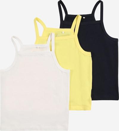 NAME IT Top 'VILINE' - citronová / černá / bílá, Produkt