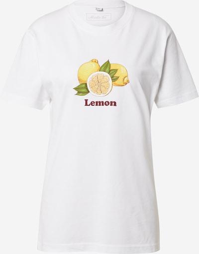 Tricou 'Lemon' Merchcode pe galben / verde / mov închis / alb, Vizualizare produs