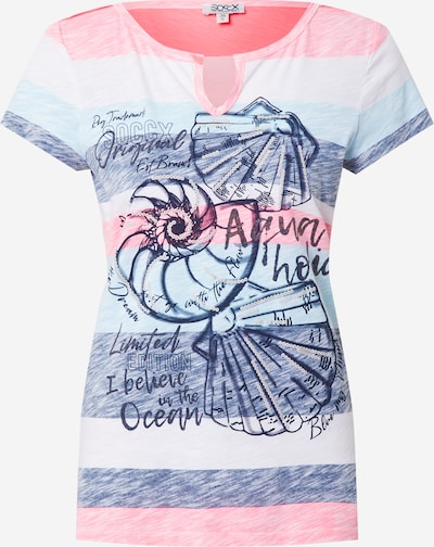 Soccx Shirt in Navy / Light blue / Pink, Item view