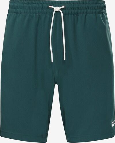 REEBOK Sportbroek 'Workout Ready' in de kleur Smaragd / Wit, Productweergave