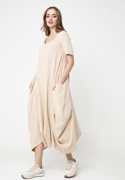 Madam-T Maxikleid 'KOSKA' in beige, Modelansicht