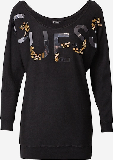 GUESS Sweater 'DORIS' in Gold / Black / Silver, Item view