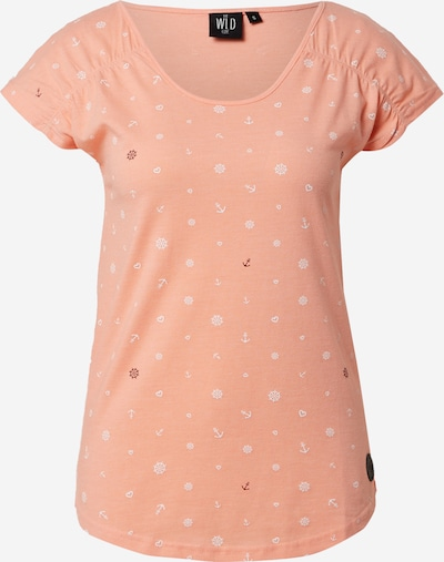 WLD Shirt 'WAIT FOR ME' in Peach / Black / White, Item view