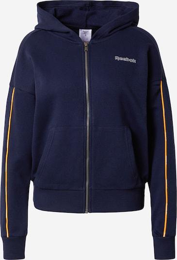 Reebok Sport Veste de survêtement en bleu / jaune / blanc, Vue avec produit