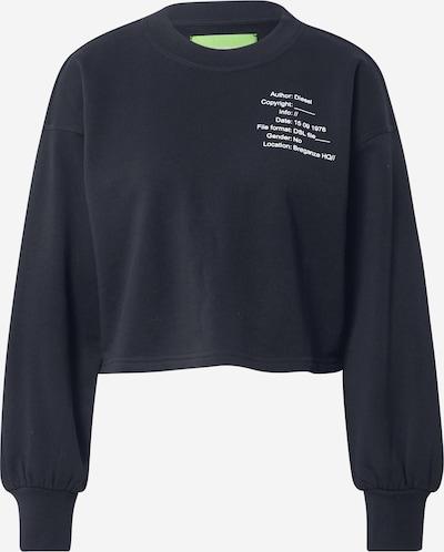 DIESEL Sweat-shirt en noir / blanc, Vue avec produit