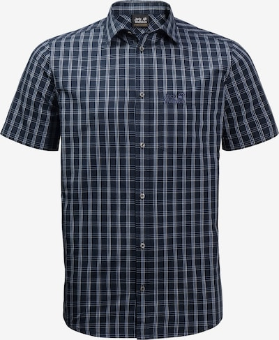 JACK WOLFSKIN Athletic Button Up Shirt 'Hot Springs' in Navy / White, Item view