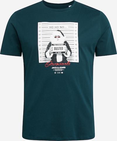 Marškinėliai 'CRIMINAL' iš Jack & Jones Plus , spalva - antracito / benzino spalva / šviesiai raudona / balta, Prekių apžvalga