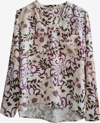 Heimatliebe Bluse in lila / weiß, Produktansicht