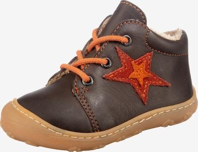 Pepino First-Step Shoes in Dark brown / Orange / Red, Item view