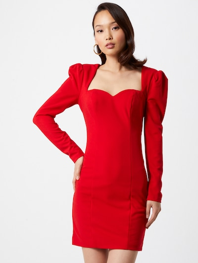 Chi Chi London Kleid 'Kailee' in rot, Modelansicht