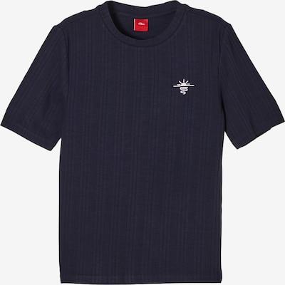 s.Oliver Shirt in de kleur Donkerblauw / Wit, Productweergave