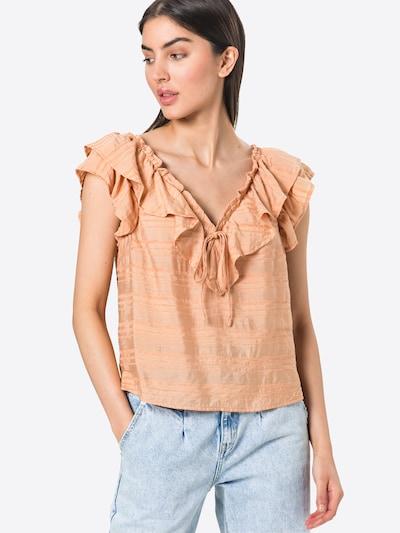 OBJECT Bluse 'RAFIA' in pastellorange / dunkelorange, Modelansicht